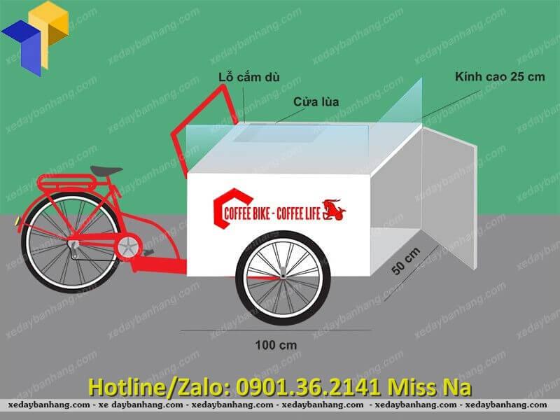 xe đạp bán hàng lưu động