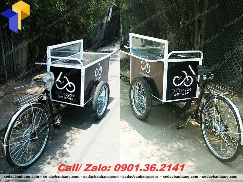xe đạp bán coffee lưu động