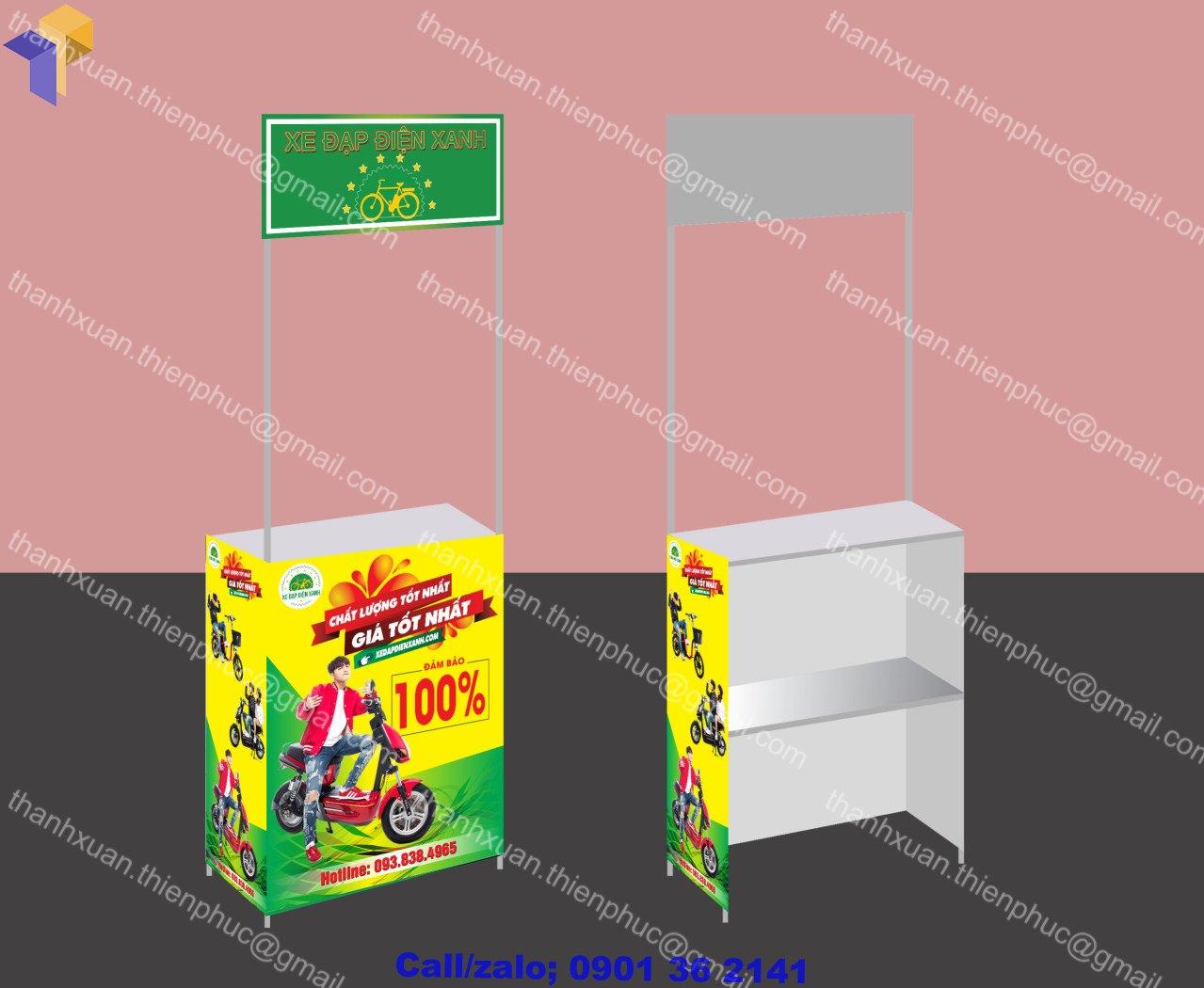 booth bán hàng lưu động tiện dụng