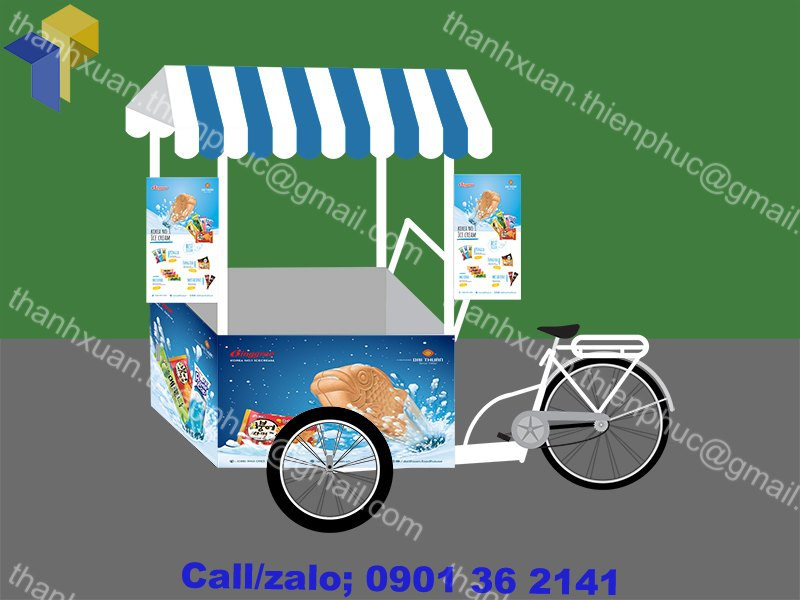 Xe đạp bán kem lưu động