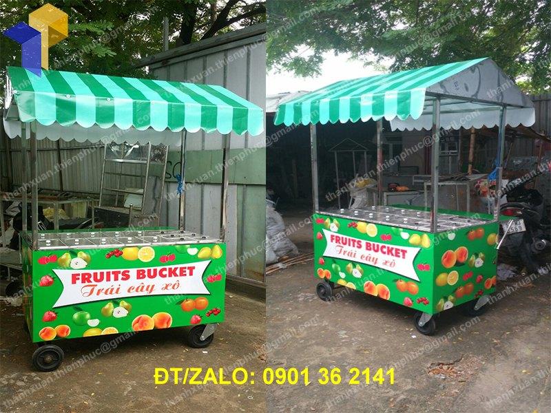 Xe inox bán trái cây tô