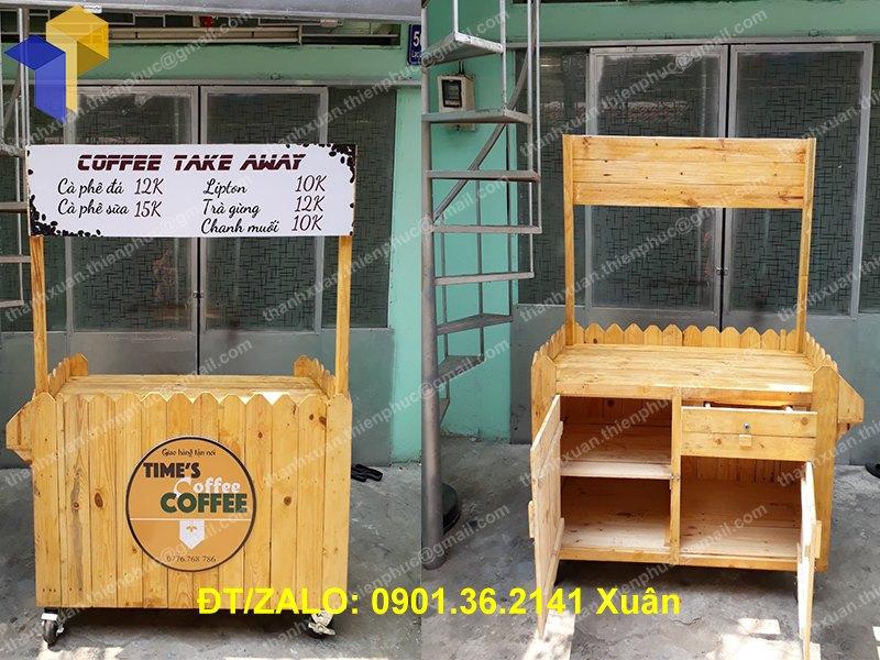 xe bán hàng lưu động bằng gỗ