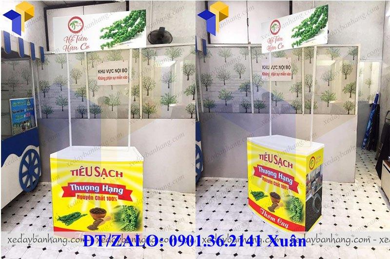 booth bán hàng di động bằng nhựa