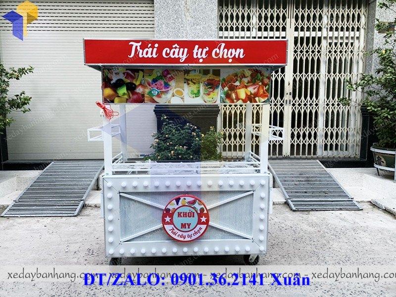 xe bán trái cây tự chọn giá rẻ