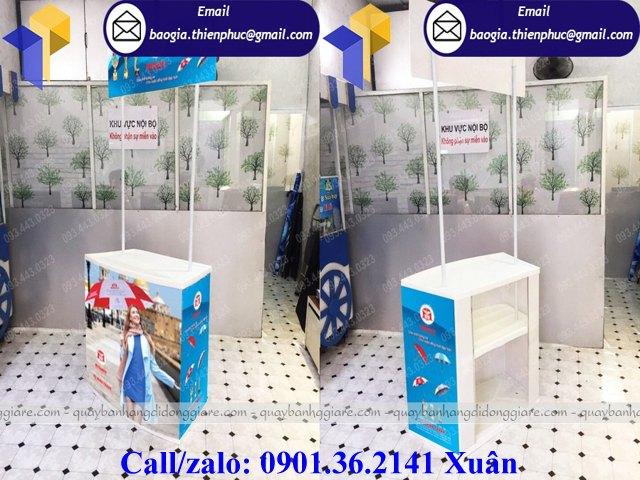 booth bán hàng bằng nhựa