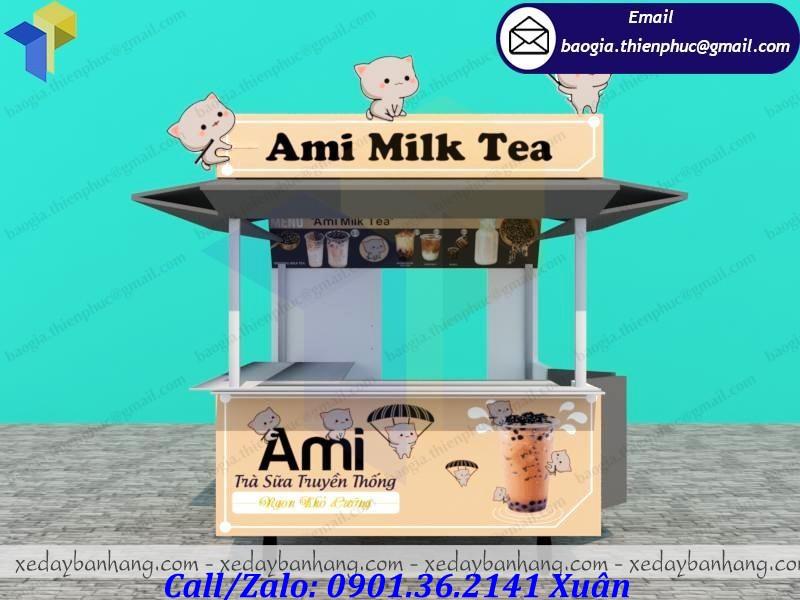 giá kiot bán trà sữa