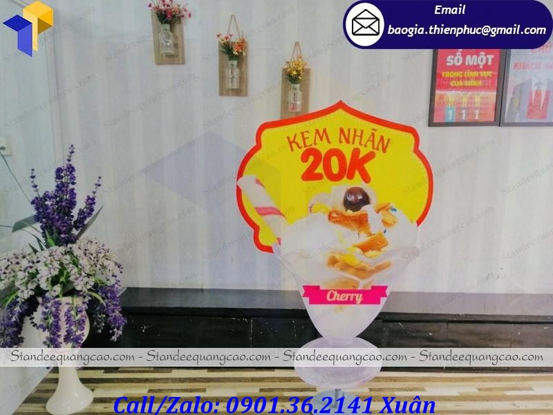 standee mô hình ly kem giá rẻ