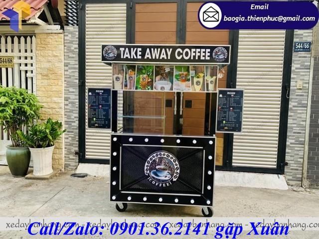 xe đẩy bán cafe mang đi