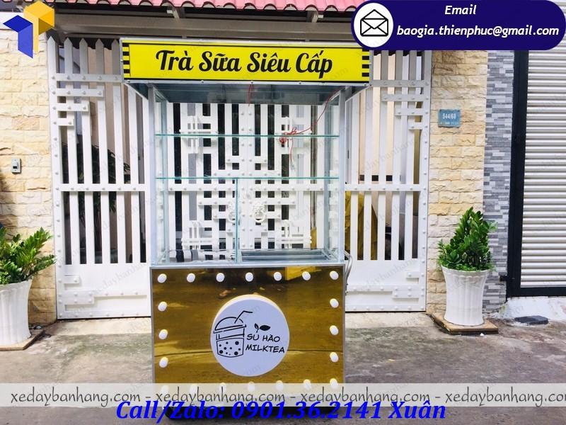 xe đẩy bán trà sữa
