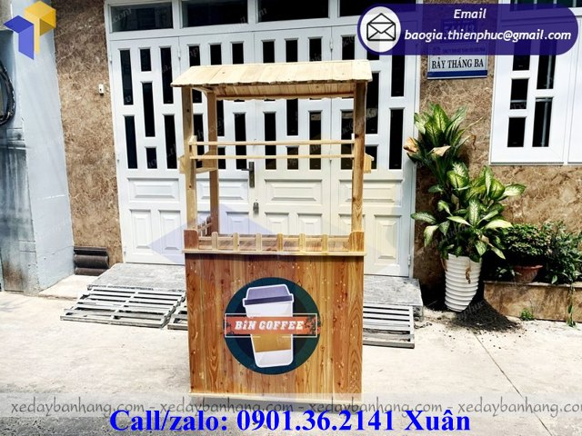 xe gỗ bán coffee giá rẻ